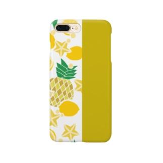 イエローのフルーツ Smartphone cases