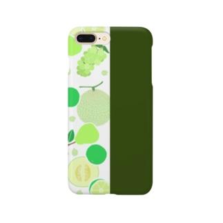 グリーンのフルーツ Smartphone cases