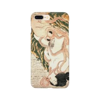 春画 蛸と海女 葛飾北斎 Smartphone cases