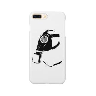 ガスマスク (黒) Smartphone cases