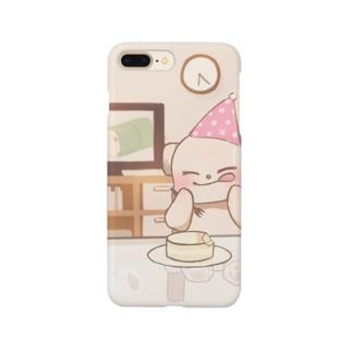 バースデーむぎスマホケース Smartphone cases