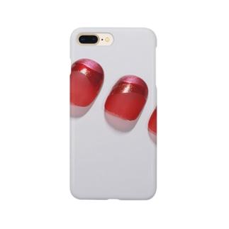 赤い爪 Smartphone cases