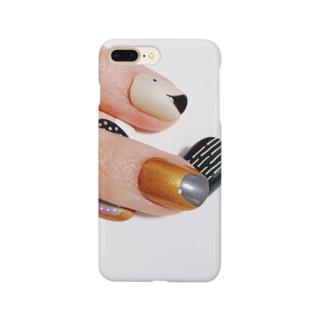 がちゃついた爪 Smartphone cases