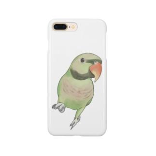 ご機嫌なダルマインコちゃん【まめるりはことり】 Smartphone cases