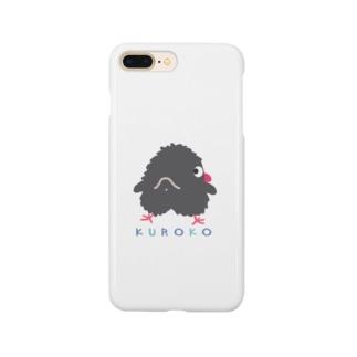 くろこ(黒っぽいヒヨコ)ふり向き Smartphone cases