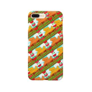 🐩プードルファミリー犬とチューリップ🌷 Smartphone cases
