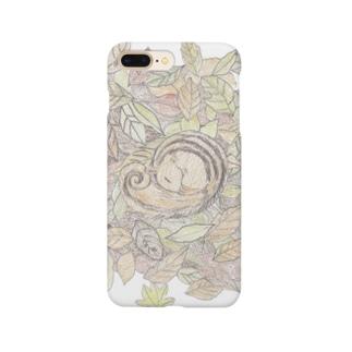 眠りリス Smartphone cases