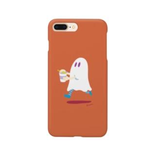 わくわくもぐもぐタイムのおばけちゃん / カップ麺 Smartphone cases