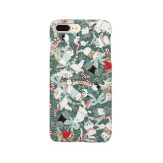スコホクリスマスグリーン Smartphone cases