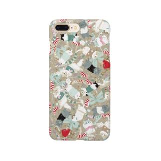 スコホクリスマスベージュ Smartphone cases