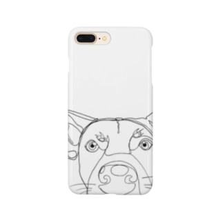 大きな犬の顔のスマホケース Smartphone cases