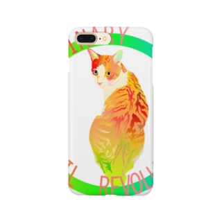 『日日彼是色々面白可笑。』(にちにちあれこれいろいろおもしろおかし。) IN SUZURIのORDINARY CATS8(春) Smartphone cases