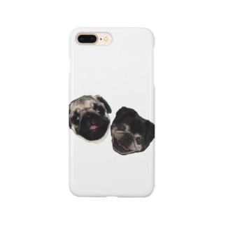 パグのダンボ&グッチ Smartphone cases
