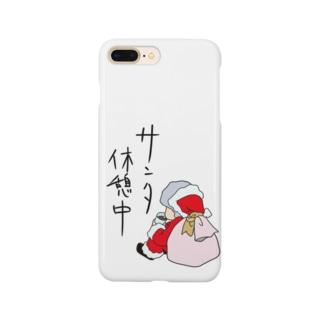 サンタ休憩中 Smartphone cases