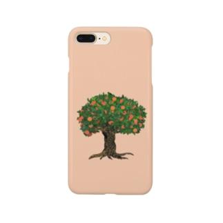 メルヘンなオレンジの木 Smartphone cases