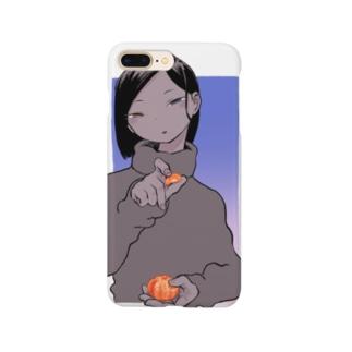 冬だからみかん剥くね Smartphone cases