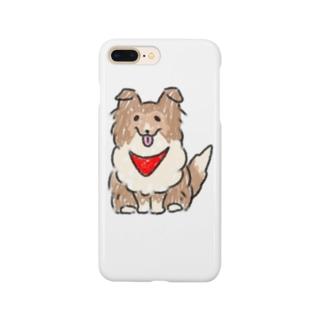 スカーフシェルティ Smartphone cases