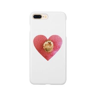 ハートのハリネズミ Smartphone cases