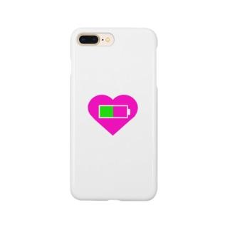 心の充電半分 Smartphone cases