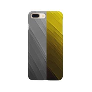 ブラック×イエロー Smartphone cases