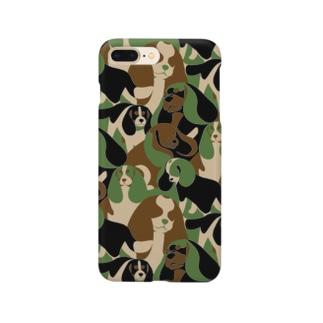 キャバリア×迷彩(カモフラ)柄→自然 Smartphone cases