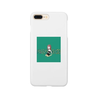 緑の女の子 Smartphone cases