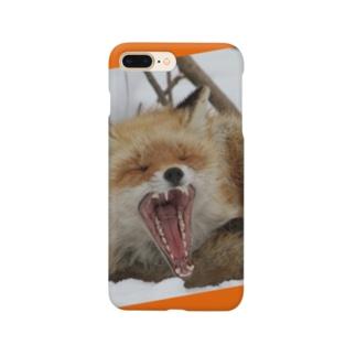 【にこらび】キタキツネ橙◇002 Smartphone cases