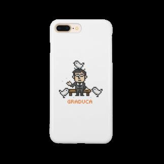GRADUCAのPixelArt さざなみ係長 Smartphone cases