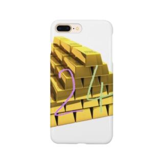 ラッキーナンバー24金運爆上げ Smartphone cases