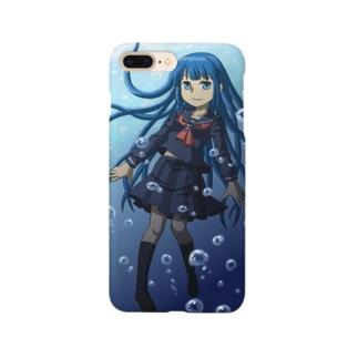 南天玉露の店の水の中の女子高生 Smartphone cases