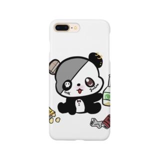 酒パンダiPhoneケース Smartphone cases
