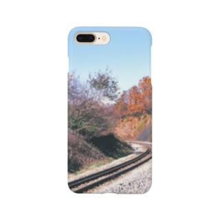 日本の鉄道:非電化区間の秋景色 Japanese rail: Non-electrified section Smartphone cases
