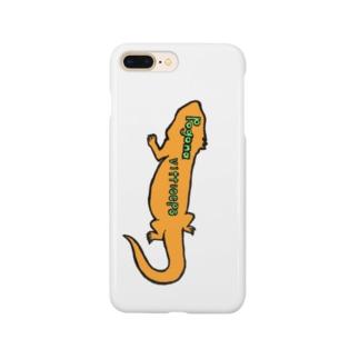 """フトアゴヒゲトカゲ学名""""Pogona vitticeps""""スマホケース Smartphone Case"""