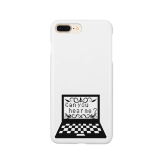 hosimaruの聞こえますか? モノクロ Smartphone cases