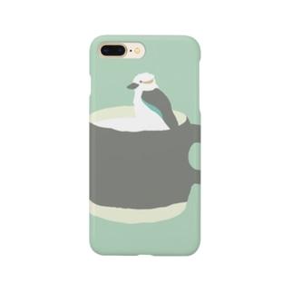 MOMOBUNKOのワライカワセミルク Smartphone cases