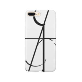 名前ロゴ Smartphone cases