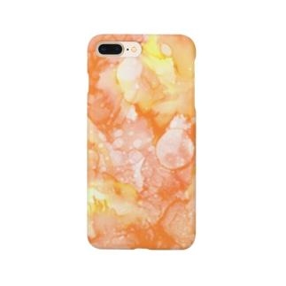 百花繚乱-橙 Smartphone cases