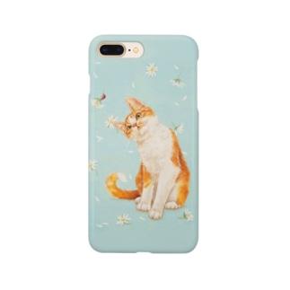 おちょぴのてんとう虫と茶白猫 Smartphone Case