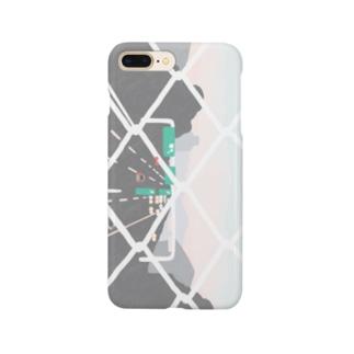 チーカマの夕方のフェンス・横 Smartphone cases