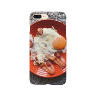 目玉焼きとベーコン Smartphone cases