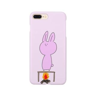 火あぶりうさぎ Smartphone cases