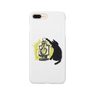 黒猫ランタン Smartphone cases