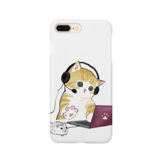 在宅勤務のプロ、その名は猫。 Smartphone cases