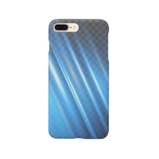 青い光のスマホケース Smartphone cases