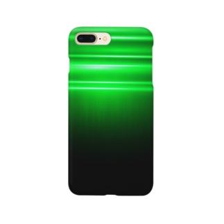 緑の光のスマホケース Smartphone cases