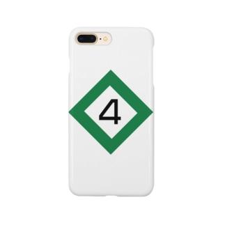 【鉄道グッズ】4両 停止位置目標 停目 Smartphone cases