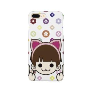 MIMMIのモノグラム (ミンクロのスマホカバー) Smartphone cases