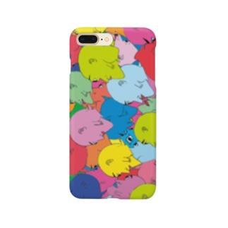 豆虫がいっぱい Smartphone cases