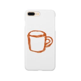 コップ 橙 Smartphone cases