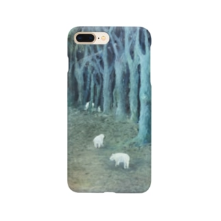 pipu の冬の森の奥 Smartphone cases